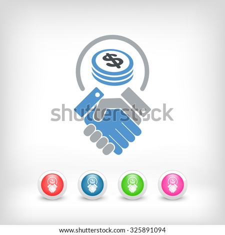 Business agreement - Dollars - stock vector