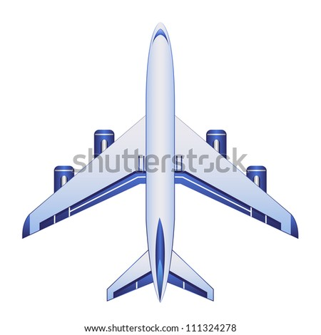 business airplane icon - stock vector