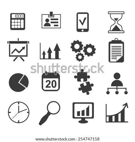 business analyst marketing icon vector set - stock vector