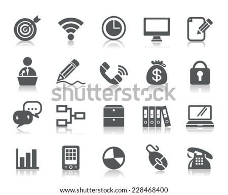 Business and Communication Icons - stock vector