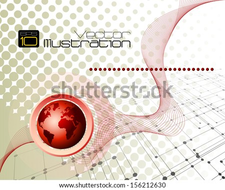 Business and communications abstract background with room for your text and logo - vector illustration - stock vector