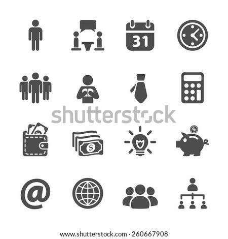 business and corporate icon set, vector eps10. - stock vector