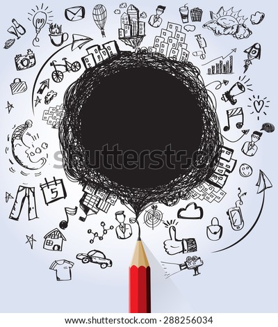 Business and Education designs concept with blank for text create-vector - stock vector