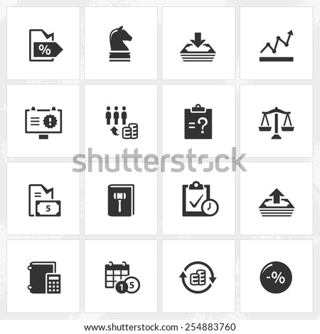 Business and enterprise vector icons. File format is EPS8. - stock vector