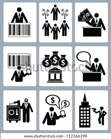 Business and finance concept,icon set,Vector - stock vector