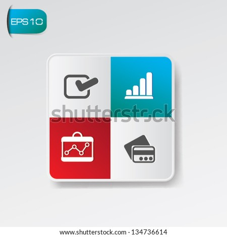 Business and finance concept sign,vector