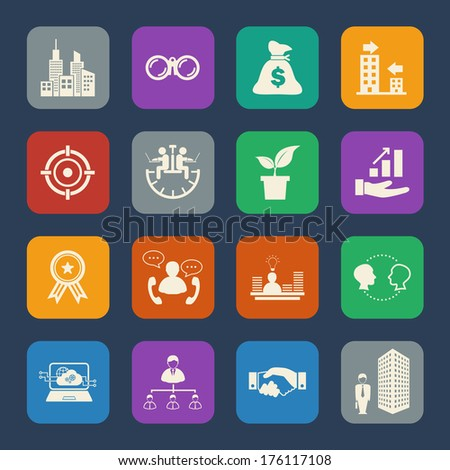 Business and Finance icon. Flat icons set for Website and Mobile applications. Vector - stock vector