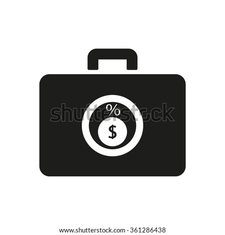 Business and finance icon percentage icon - stock vector