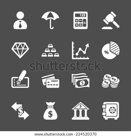 business and finance icon set, vector eps10. - stock vector