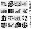 Business and finance icons - stock photo