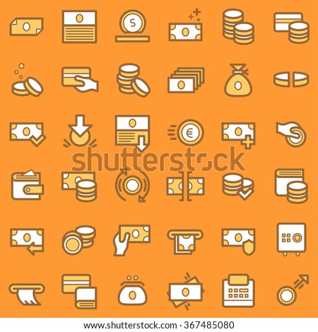 Business and finance icons set. Vector.