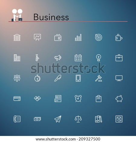 Business and finance line Icons set. Vector illustration. - stock vector
