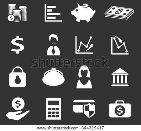 Business and Finance symbol for web icons