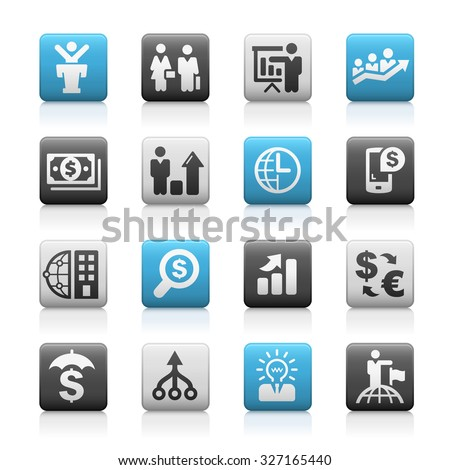 Business and Financial Icons // Matte Series - stock vector