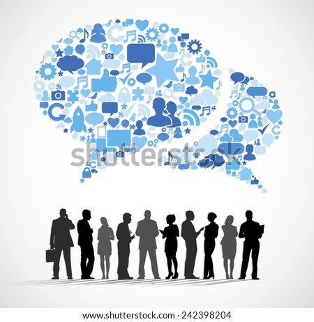Business and internet Group Vector - stock vector