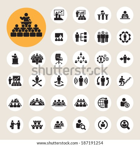 Business and Management Icons set, Illustration eps10 - stock vector