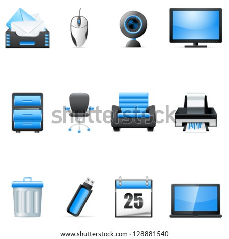 business and technology icons - vector illustration - stock vector