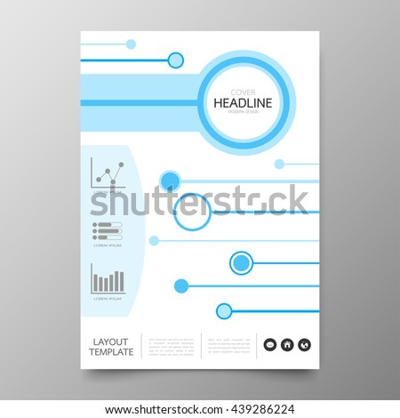 Business annual report cover template design.Geometric circle abstract background.Layout and brochure for presentation in A4 size
