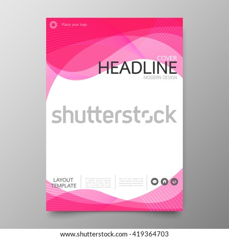 business annual report cover template curve abstract in a4 size