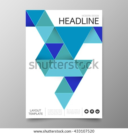 Annual Report Cover Layout Design Stock Vector 309298073