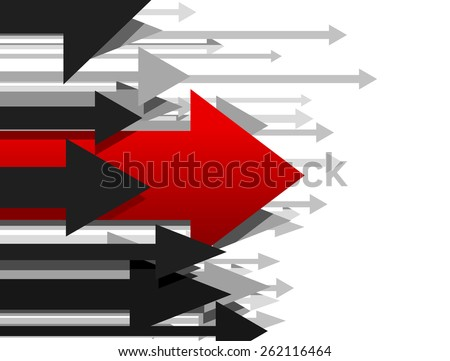 Business arrow concept, concept of leadership, arrow abstract background. - stock vector