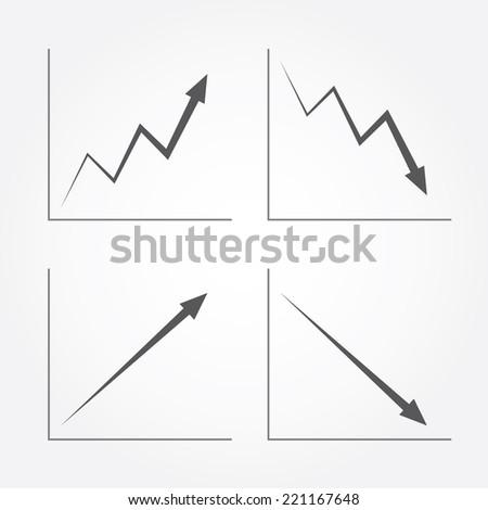 Business Arrow Graph - stock vector