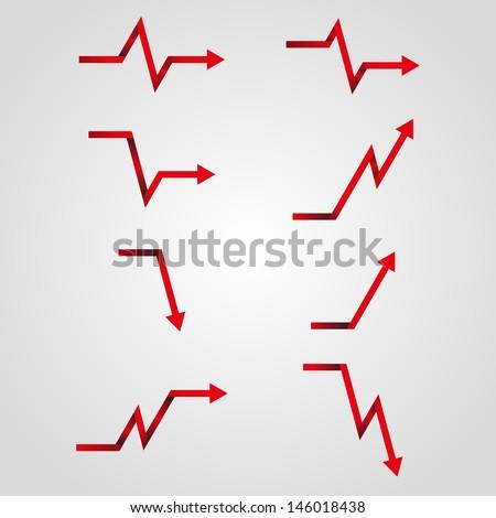 business arrow graph , vector illustration eps - stock vector