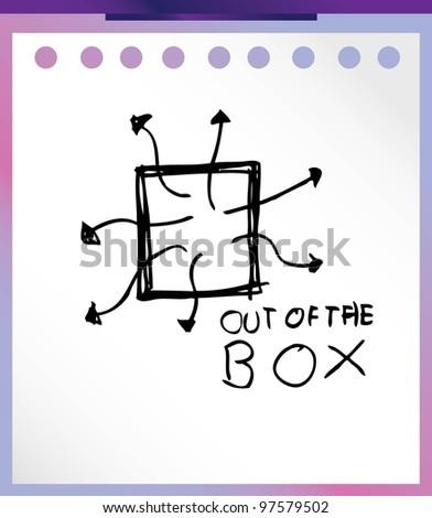business art illustration doodle - stock vector