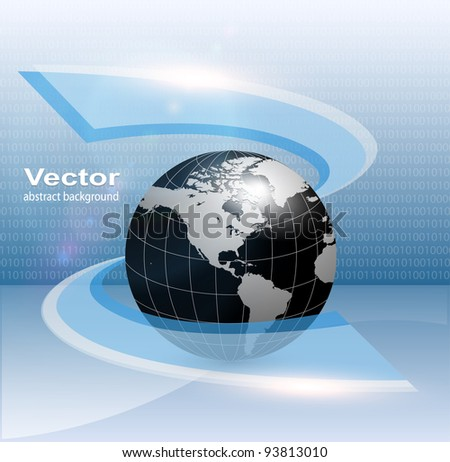 Business background, earth in new technology concept, vector.