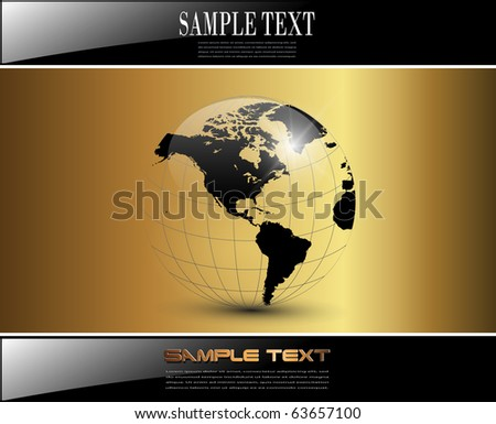 Business background elegant glossy gold, vector. - stock vector