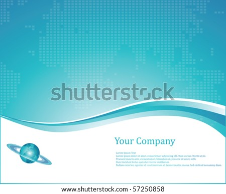 Business Background Layout Blue color Vector