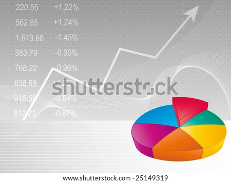 Business background - Pie chart - stock vector