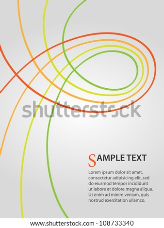 business background with green and orange curves