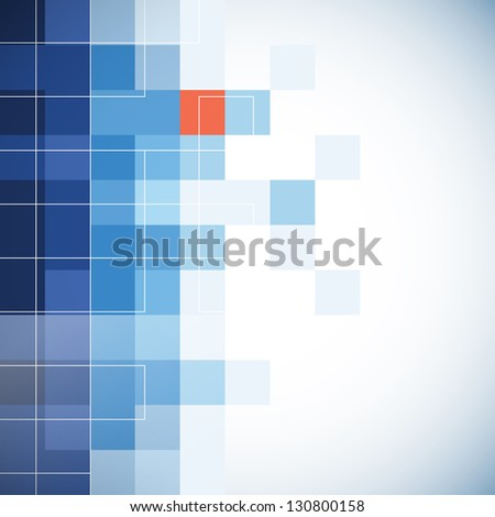Business background with mosaic effect - stock vector