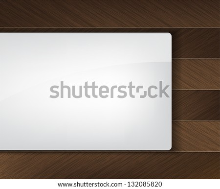 Business background with wood insertion and a white space for text. (Vector) - stock vector