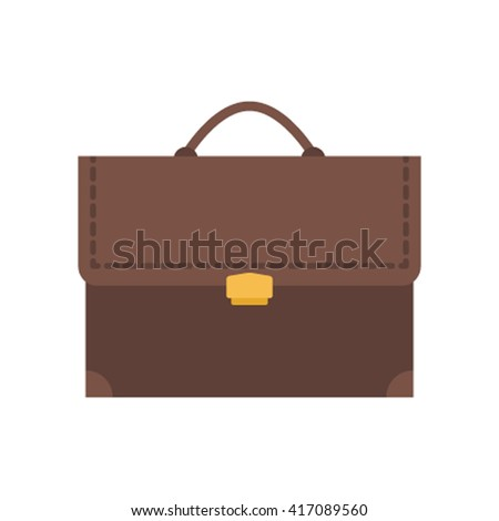 Business bag isolated on white background.  Case for Web flat vector illustration isolated on white background