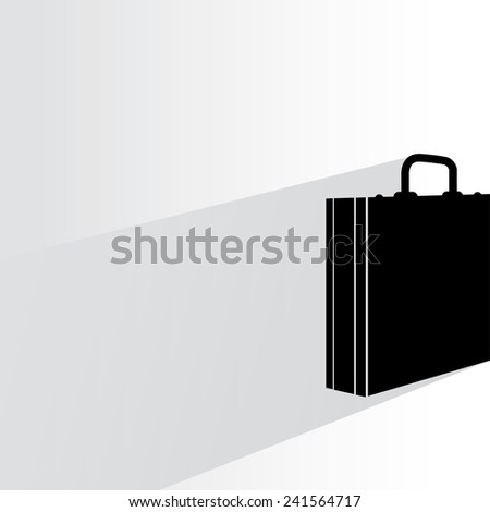business bag on white background, flat and shadow theme