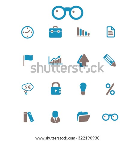 business bank icons - stock vector