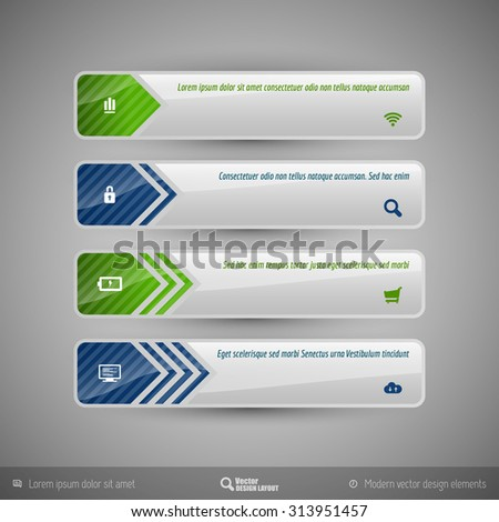 Business banner for infographic, web design, apps. Vector design elements.