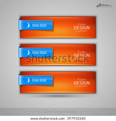 Business banner for infographic, web design, apps. Vector design elements. - stock vector