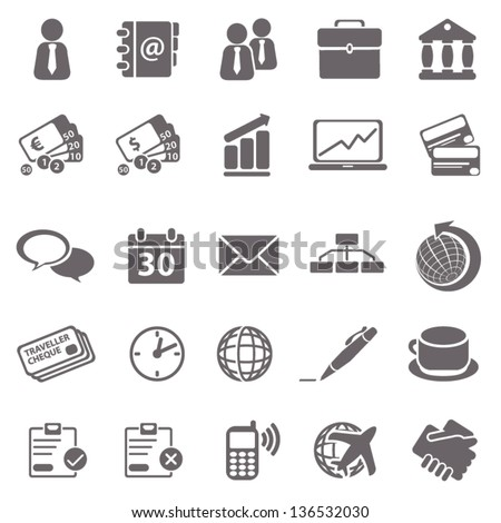 Business basic icons - stock vector
