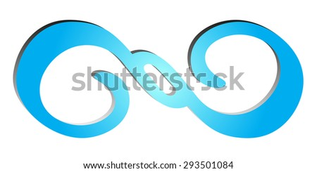 Business blue abstract vector logo with geometric elements background infinity icon corporate emblem technology design template - stock vector