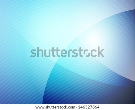 Business blue wave - stock vector