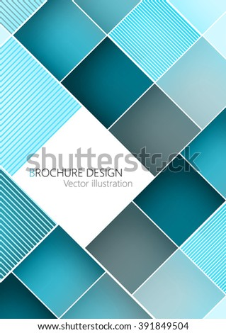 Business brochure cover design template. Turquoise background Vector. Clip-art