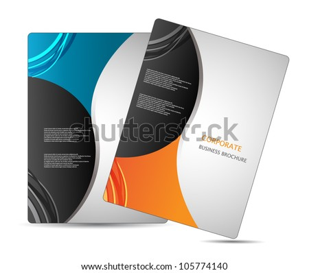 business brochure design - stock vector