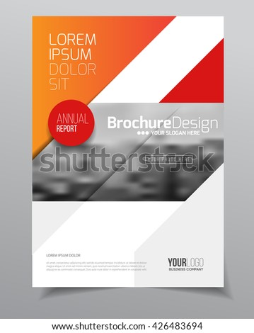 Business Brochure design. Annual report vector illustration template. A4 size