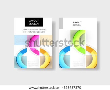 Business brochure design template easy all editable - stock vector