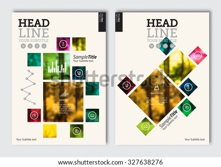 Business brochure design template vector flyer stock vector hd business brochure design template vector flyer layout blur background with elements for magazine wajeb Choice Image