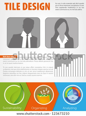 Business brochure design with avatar