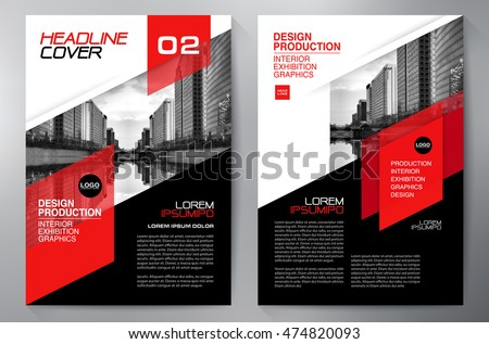 business brochure flyer design a4 template vector illustration - Flyer Design Ideas